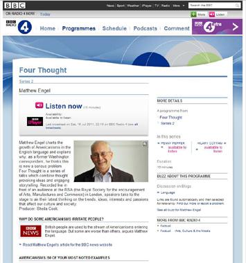 BBC Podcasting ETCマンツーマン英会話