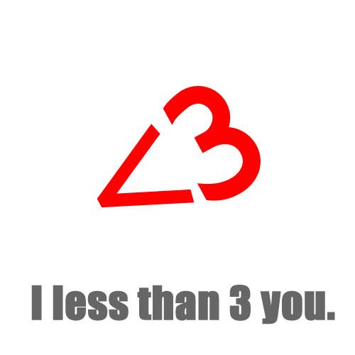 <3 :less than three